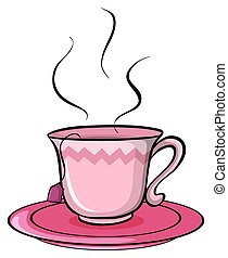 A cup of tea - Cup of tea on a white background