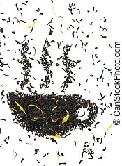 a cup of tea out of tea leaves - a cup of tea made out of...