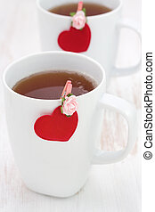 a cup of tea with heart