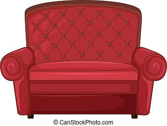 A cushion chair - Illustration of a cushion chair on a white...
