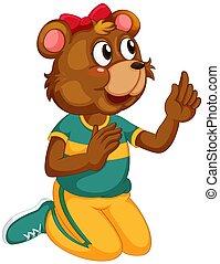 A cute bear character