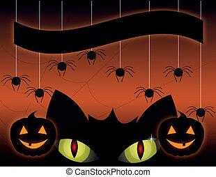 black cat on a Halloween