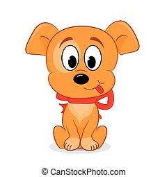 A cute cartoon dog