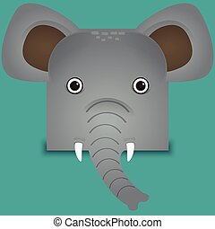a cute Elephant vector illustration
