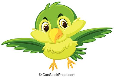 A cute green bird