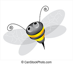 bee - A cute kittle bee buzzing around