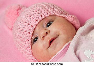 A cute little baby gir