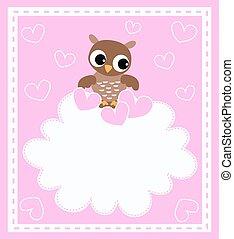 a cute little baby owl