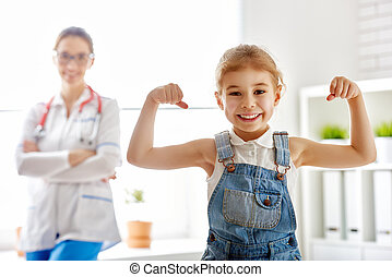 girl at a doctor's