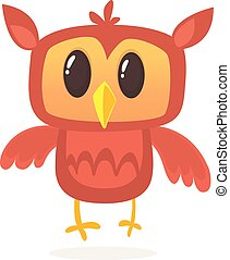 A cute owl cartoon character mascot. Vector illustration