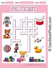A cute toys crossword template