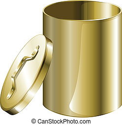 A cylindrical pan - Illustration of a cylindrical pan on a...