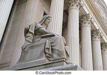 a, döntő bíróság, épület, alatt, washington, egyenáram