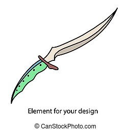 A dagger made of Valerian steel. A knife with a dragon bone handle. A magical item.