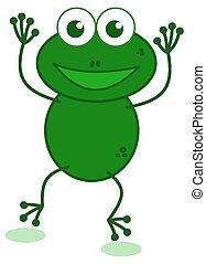 a dancing frog