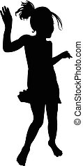 a dancing girl silhouette