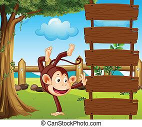 A dancing monkey
