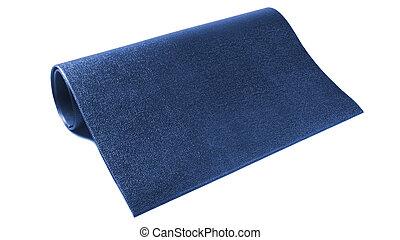a dark blue carpet