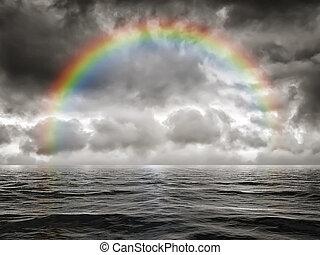 rainbow at the ocean