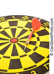a dart on a dartboard