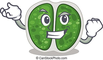 A dazzling chroococcales bacteria mascot design concept with happy face