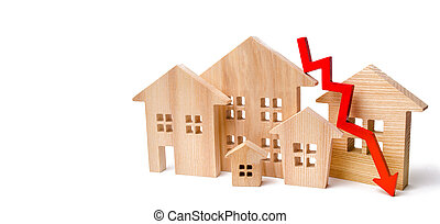a decline in property prices. population decline. falling ...