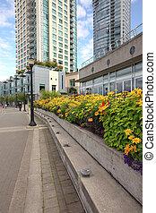 A decorated promenade in Vancouver BC Canada.
