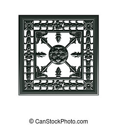 a decorative element in the Empire style of cast iron