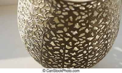 a decorative pattern is on vase