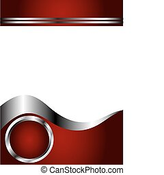 A deep red, Silver and white Business card or Background Template