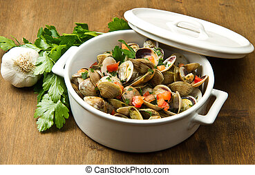 delicious clams soup