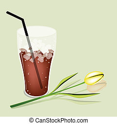 A Delicious Iced Coffee and White Daisy