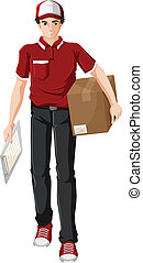 A delivery man