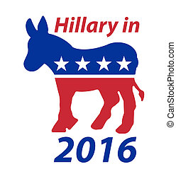 A Democratic Donkey Hillary in 2016 sign
