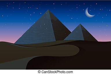 A desert at night