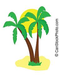 A desert island illustration