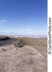A desert view from Panamericana, route 5, Chile