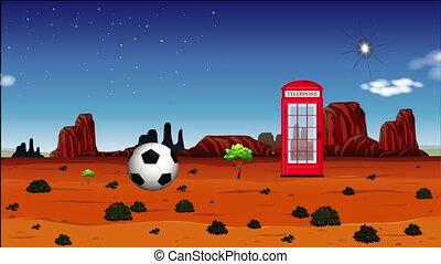 a desert view with advance technology
