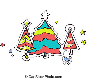 design abstraction Christmas tree for the holiday