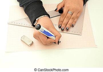A designer at work