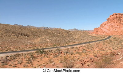 A desolate road in the Southwest
