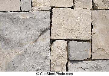 a detail of a strange pattern stone