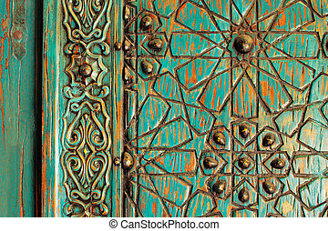 A detail of an ancient ottoman door - A detail shot of an...