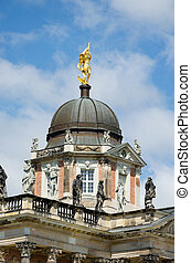 A detail of the New Palace in the Sanssouci Park in Potsdam, Ger