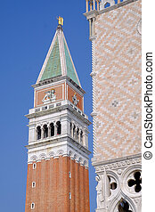 Campanile - A detail of the top of the Campanile in St Marks...