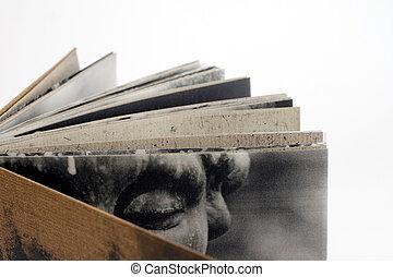 artist book - a detail view of an artist book - made by ...