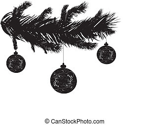 a detailed vector backgroung of Christmas pine needles
