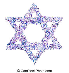 A diamond Star of David
