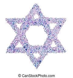A diamond Star of David