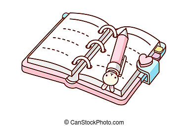 A diary is opend